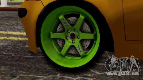 Daewoo Matiz Tuning para GTA San Andreas vista posterior izquierda
