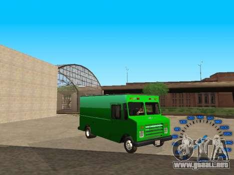 Boxville Sprite para GTA San Andreas vista hacia atrás