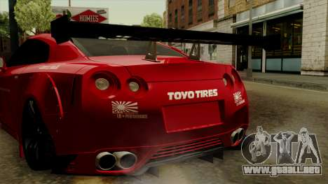 Nissan GT-R Liberty Walk Performance para visión interna GTA San Andreas