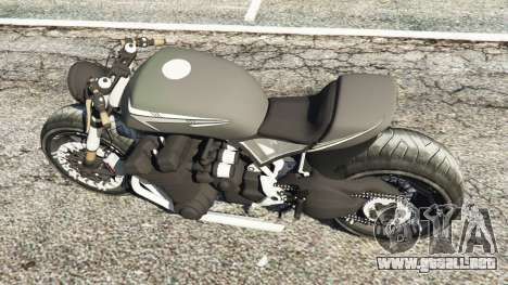 GTA 5 Honda CB 1800 Cafe Racer with Stickers vista trasera