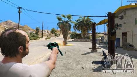 GTA 5 Saints Row 3 Cyber SMG Emissive v1.01 quinta captura de pantalla