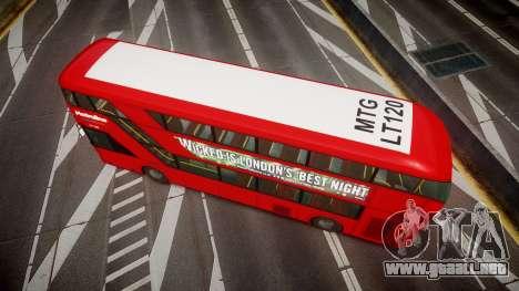 Wrightbus New Routemaster Metroline para GTA 4 visión correcta