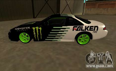 Nissan 200SX Drift Monster Energy Falken para GTA San Andreas left