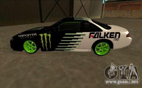 Nissan 200SX Drift Monster Energy Falken para GTA San Andreas left