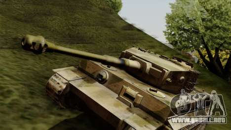 Panzerkampfwagen VI Ausf. E Tiger para la visión correcta GTA San Andreas