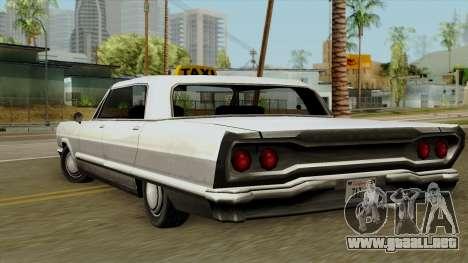Taxi-Savanna para GTA San Andreas left
