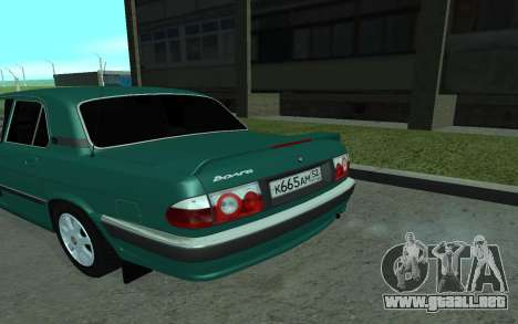 GAS de 31105 Volga para GTA San Andreas vista posterior izquierda