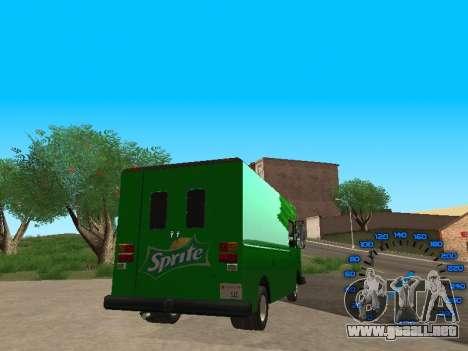 Boxville Sprite para GTA San Andreas vista posterior izquierda