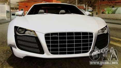 Audi R8 v1.0 Edition Liberty Walk para vista inferior GTA San Andreas