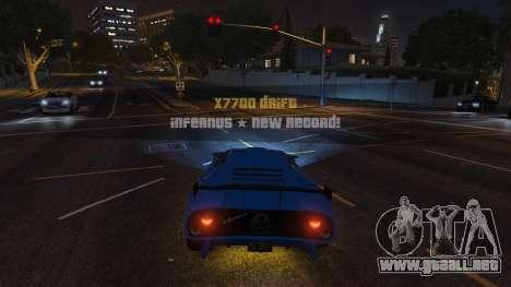 GTA 5 Drift HUD segunda captura de pantalla