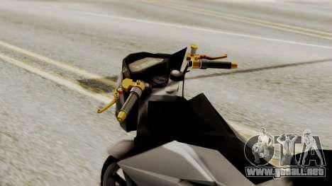 Sonic 150R Custom para la visión correcta GTA San Andreas