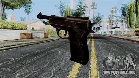 Walther P38 from Battlefield 1942 para GTA San Andreas segunda pantalla