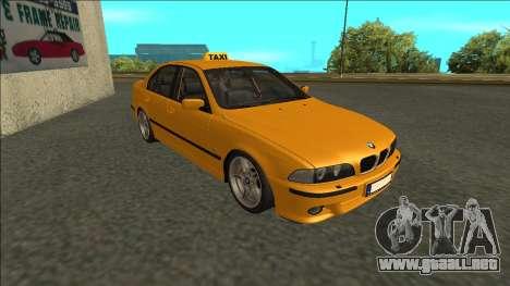 1999 BMW 530d E39 Taxi para GTA San Andreas left
