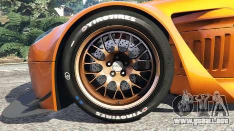 GTA 5 Aston Martin Vantage GT3 vista lateral trasera derecha