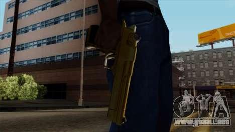 Golden Desert Eagle para GTA San Andreas tercera pantalla