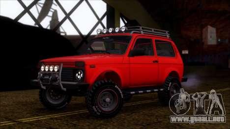 VAZ 2121 Niva Offroad para visión interna GTA San Andreas