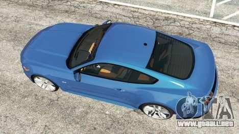 GTA 5 Ford Mustang GT 2015 vista trasera
