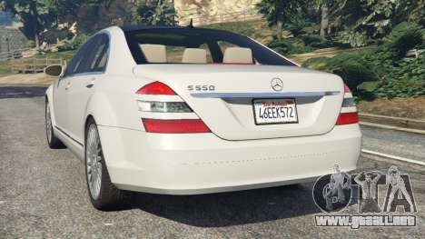 GTA 5 Mercedes-Benz S550 W221 v0.5 [Alpha] vista lateral izquierda trasera