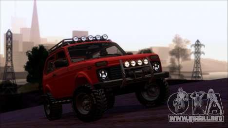 VAZ 2121 Niva Offroad para la vista superior GTA San Andreas
