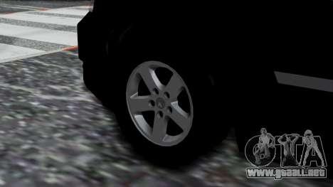 Dodge Grand Caravan 2010 para GTA San Andreas vista posterior izquierda