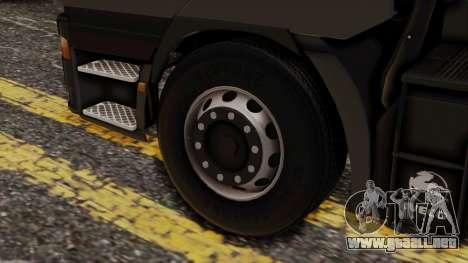 Iveco EuroStar Normal Cab para GTA San Andreas vista posterior izquierda