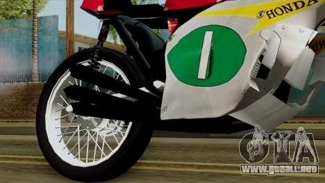 Honda RC166 v2.0 World GP 250 CC para la visión correcta GTA San Andreas