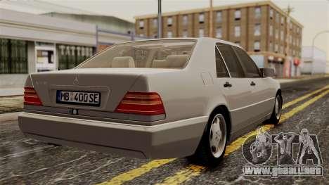 Mercedes-Benz W140 400SE 1992 para GTA San Andreas left