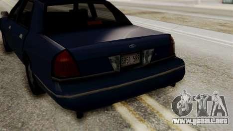 Ford Crown Victoria LP v2 Civil para la visión correcta GTA San Andreas