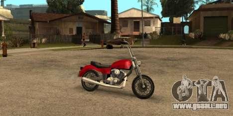 Deamon SA Style para GTA San Andreas vista posterior izquierda