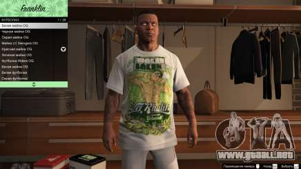 Franklin Hip Hop Camisetas para GTA 5