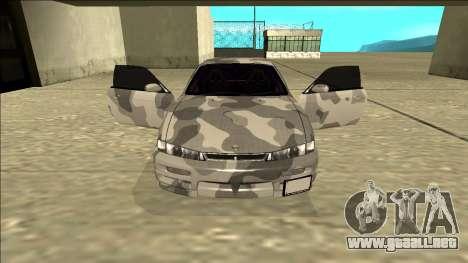 Nissan Silvia S14 Army Drift para visión interna GTA San Andreas