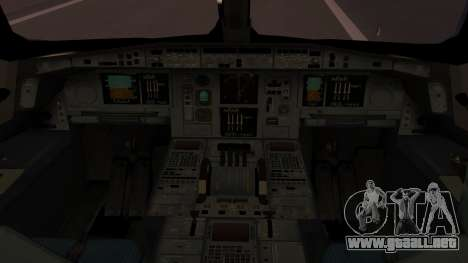 Airbus 350-900XWB Qatar Launch Customer para GTA San Andreas vista hacia atrás