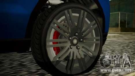 GTA 5 Obey Rocoto IVF para GTA San Andreas vista posterior izquierda