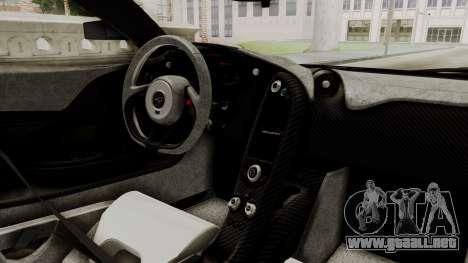McLaren P1 GTR v1.0 para la visión correcta GTA San Andreas