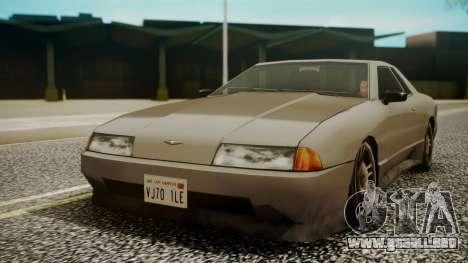 Elegy Hell Cat para GTA San Andreas vista posterior izquierda
