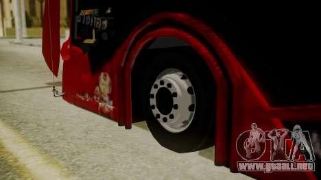 Bus Iron Man para GTA San Andreas vista posterior izquierda