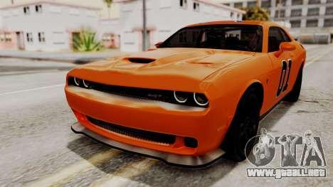 Dodge Challenger SRT Hellcat 2015 HQLM para las ruedas de GTA San Andreas