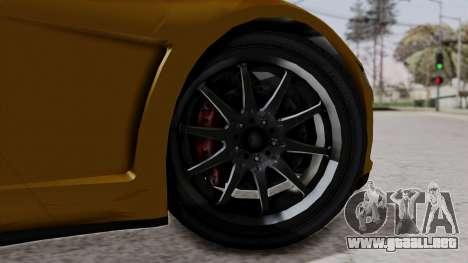 Dinka Jester Sparkle para GTA San Andreas vista posterior izquierda