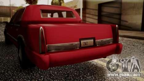 Stretch Sedan para GTA San Andreas vista posterior izquierda