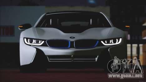 BMW i8 Coupe 2015 para GTA San Andreas vista hacia atrás