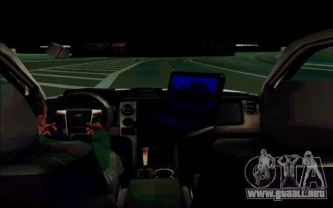 Ford F150 2015 Towtruck para GTA San Andreas vista hacia atrás