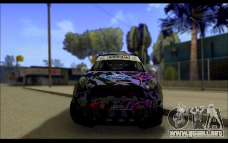 Mini Cooper Gymkhana 6 with Drift Handling para visión interna GTA San Andreas