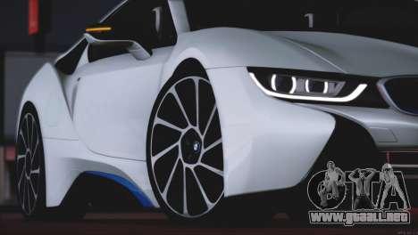 BMW i8 Coupe 2015 para la vista superior GTA San Andreas