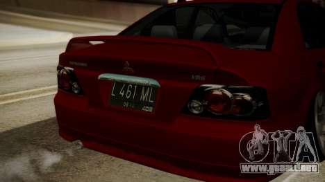 Mitsubishi Galant VR6 Stance para GTA San Andreas vista hacia atrás