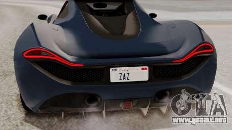 Citric Progen T20 para la vista superior GTA San Andreas