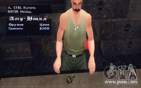 Realistic Weapons Pack para GTA San Andreas séptima pantalla
