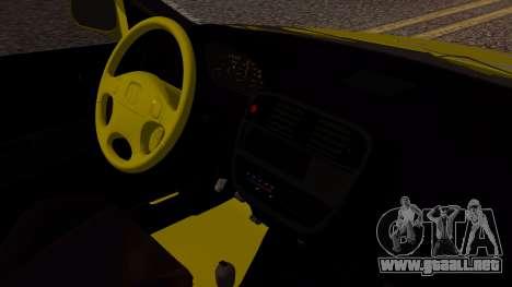Honda Civic Taxi para la visión correcta GTA San Andreas