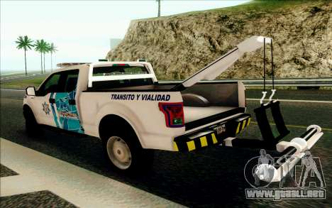 Ford F150 2015 Towtruck para la visión correcta GTA San Andreas
