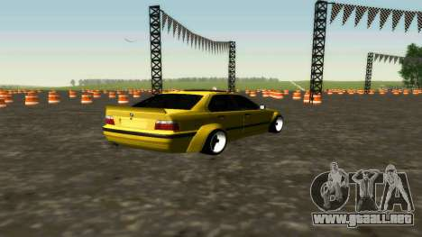BMW 320i E36 Wide Body Kit para GTA San Andreas vista posterior izquierda
