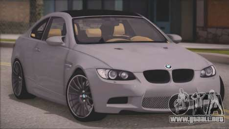 BMW M3 E92 2008 para GTA San Andreas left